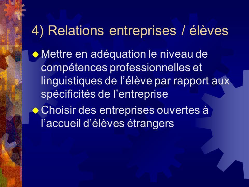 5) Séquences pédagogiques : DNL : Acquisition du vocabulaire pratique professionnel de faible niveau au départ (rassurer et mise en confiance des candidats) Étude et traduction de la convention Évaluation PFE Étude du référentiel du pays concerné Explications sur lépreuve spécifique pour la classe Européenne