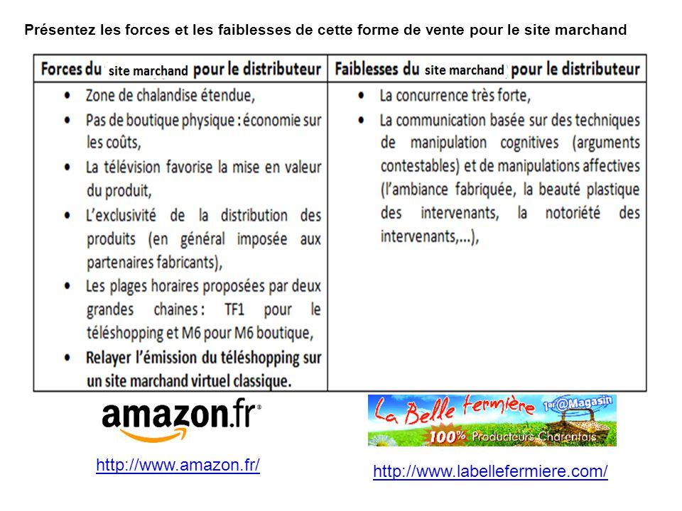 Présentez les forces et les faiblesses de cette forme de vente pour le consommateur http://www.rueducommerce.fr/home/index.htm