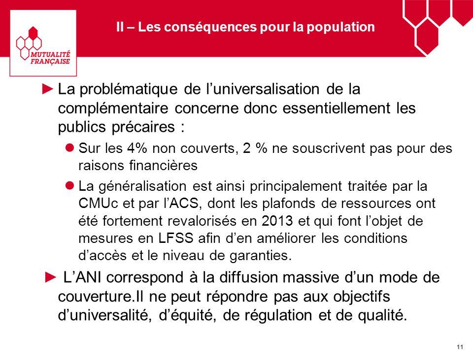 12 II – Les conséquences pour la population Ces objectifs sont liés et doivent être traités ensemble, avec les outils du Contrat Solidaire et Responsable et la fiscalité.