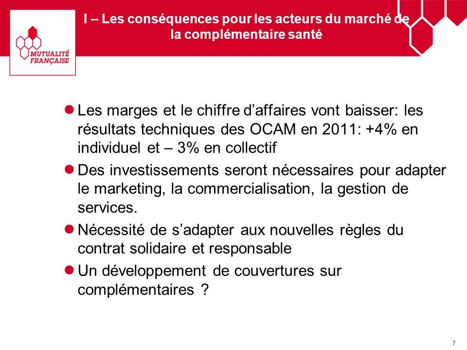 8 II – Les conséquences pour la population Objectif : « généralisation dune couverture complémentaire santé de qualité pour tous ».