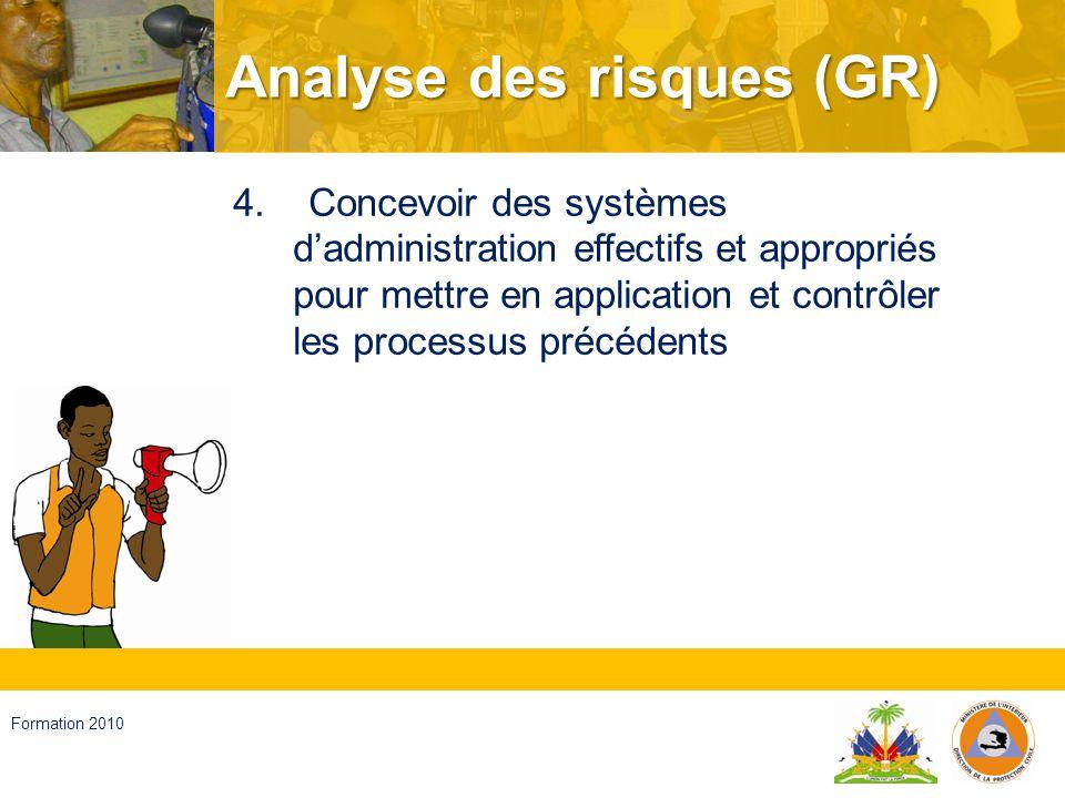 Haïti, septembre 2008 Formation 2010 Réduction du risque 1.