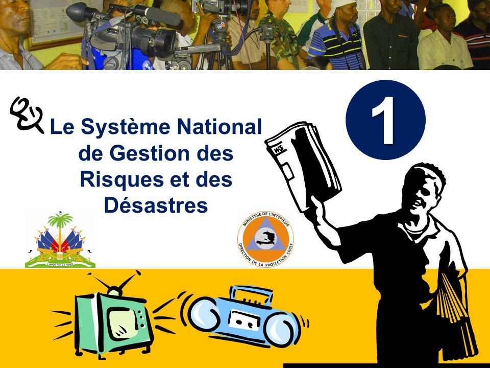 Haïti, septembre 2008 Formation 2010 Plan de la présentation Brève historique du SNGRD Mission et attributions Organigramme CNGRD SPGRD COU Comités et groupes