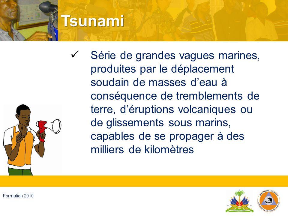 Haïti, septembre 2008 Formation 2010 Eruption volcanique Passage de matériel (magma), de cendres et de gaz de lintérieur de la terre à la surface