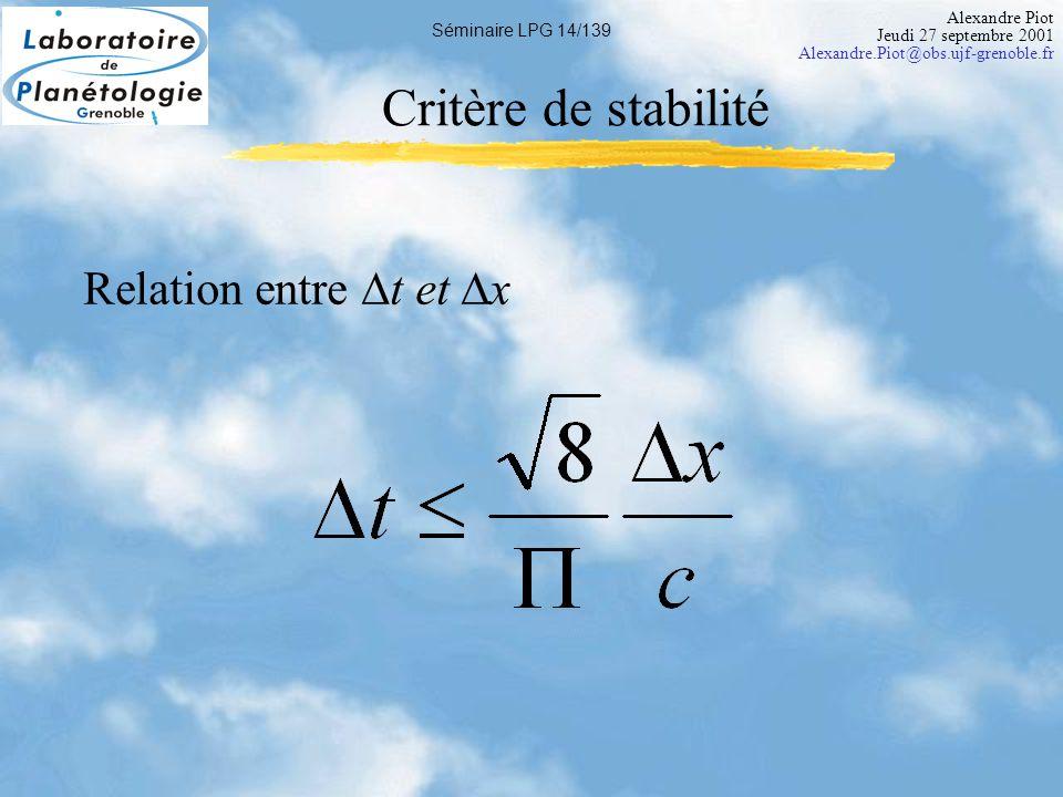 Alexandre Piot Jeudi 27 septembre 2001 Alexandre.Piot@obs.ujf-grenoble.fr Séminaire LPG 15/139 Prêt pour de vrais simus .