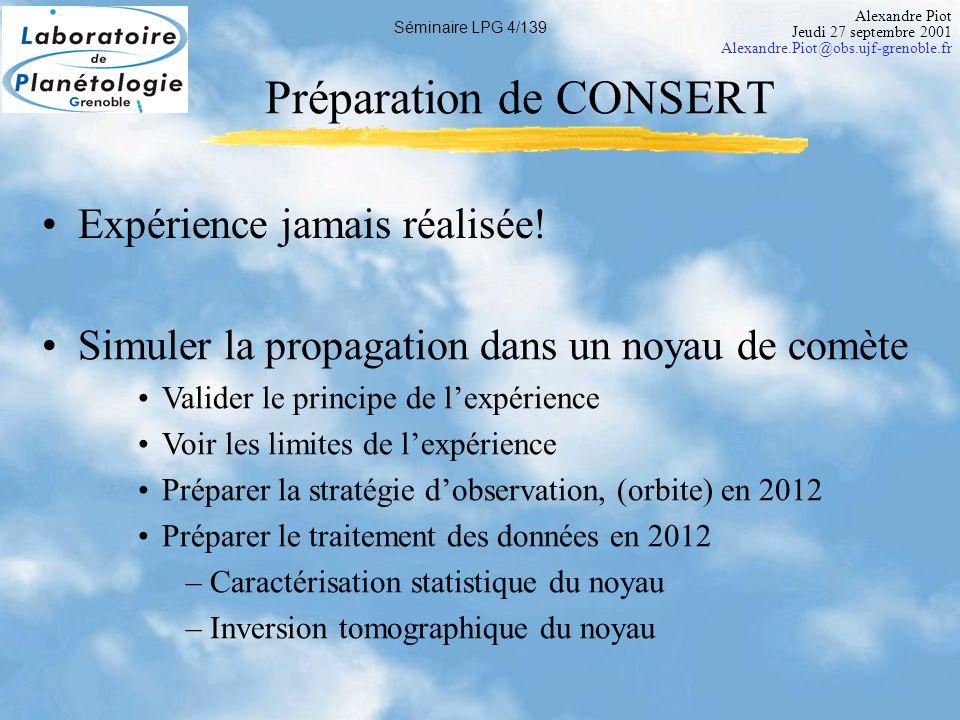 Alexandre Piot Jeudi 27 septembre 2001 Alexandre.Piot@obs.ujf-grenoble.fr Séminaire LPG 5/139 Méthode des rayons A.