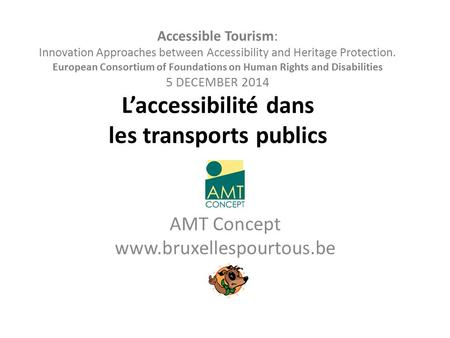 Accessible Tourism: Innovation Approaches between Accessibility and Heritage Protection. European Consortium of Foundations on Human Rights and Disabilities.
