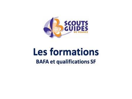 Les formations BAFA et qualifications SF