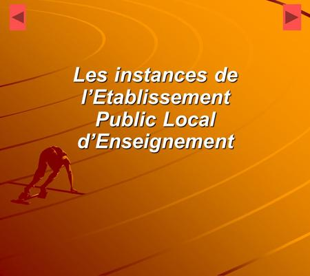Les instances de l'Etablissement Public Local d'Enseignement.