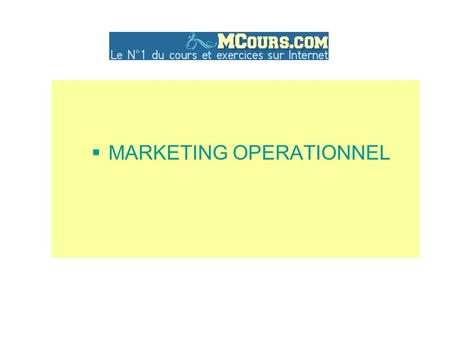  MARKETING OPERATIONNEL. INTRODUCTION CONTEXTE, ENJEUX, DEFINITIONS, DEMARCHE.
