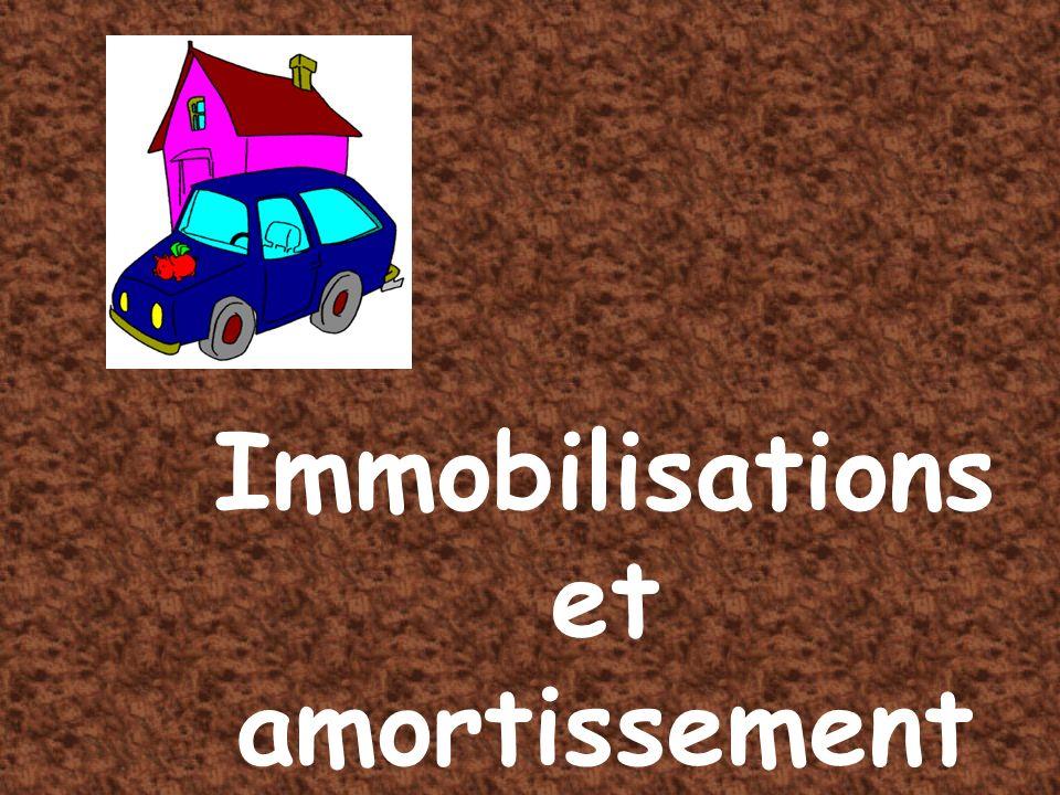 Immobilisation et amortissements