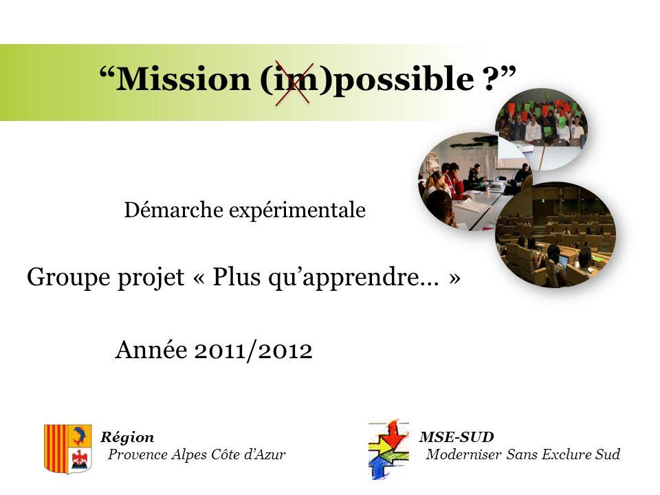 Réunion de lancement 21/10/2011 1.Hypothèse de départ / attendus 2.Le cadre / Un déroulement 3.Position de MSE 4.Et demain...
