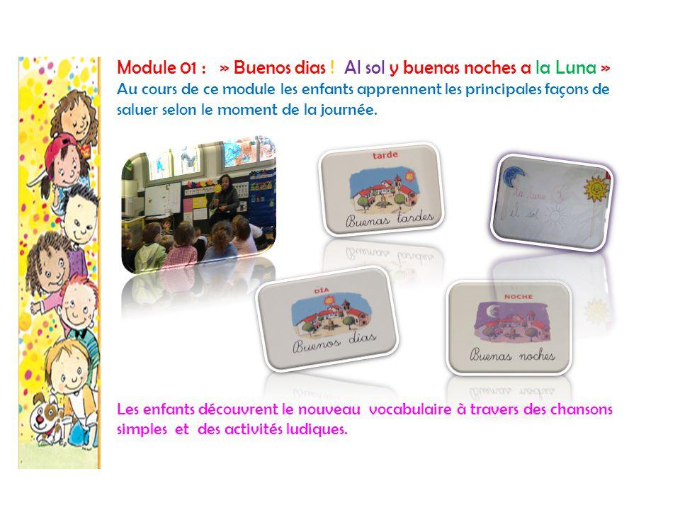 Module 02: « Yo soy un niño o una niña … y me llamo… » Les enfants apprennent aussi à s'identifier et à se présenter auprès de leurs camarades.