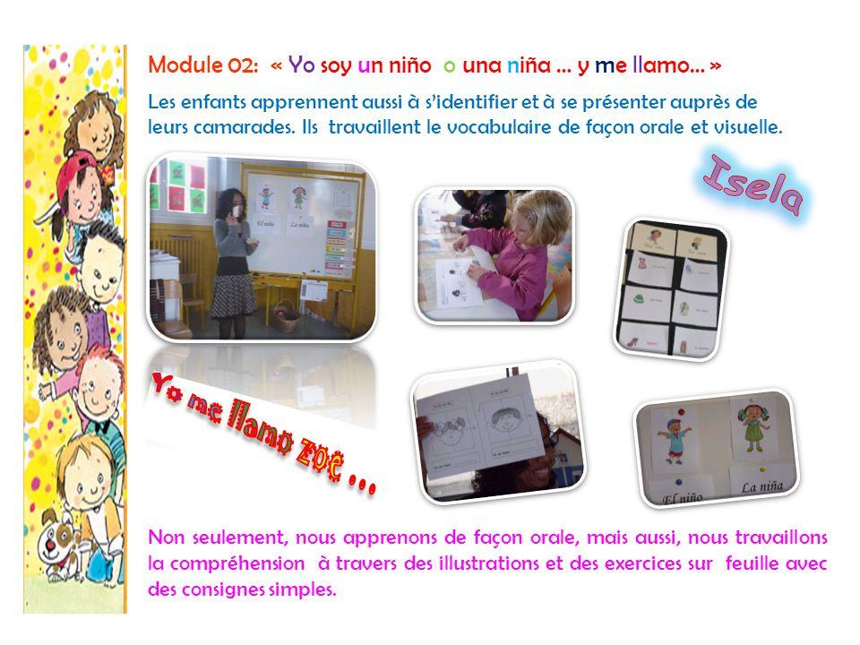 Module 3: « Aprendiendo las partes del cuerpo » Nous chantons, nous dansons, et nous sommes très heureux et très motivés pour l'apprentissage de l'espagnol Les élèves arrivent à identifier les différentes parties du corps en dansant et en travaillant en groupe, avec des stratégies ludiques.