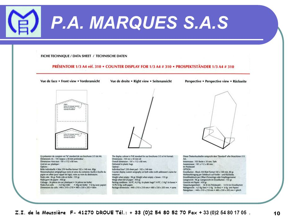11 P.A.MARQUES S.A.S Z.I.