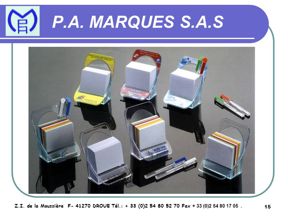16 P.A.MARQUES S.A.S Z.I.