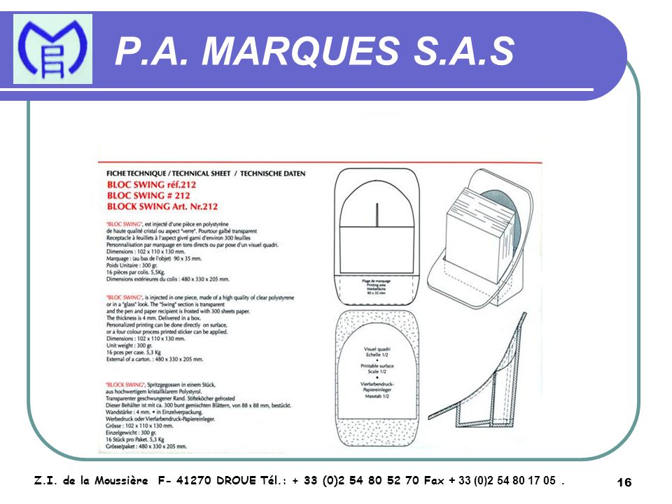 17 P.A.MARQUES S.A.S Z.I.