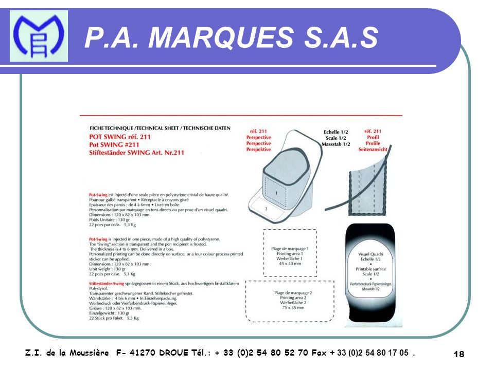 19 P.A.MARQUES S.A.S Z.I.