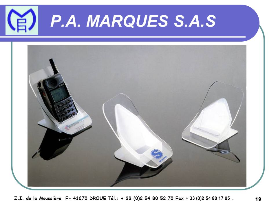 20 P.A.MARQUES S.A.S Z.I.