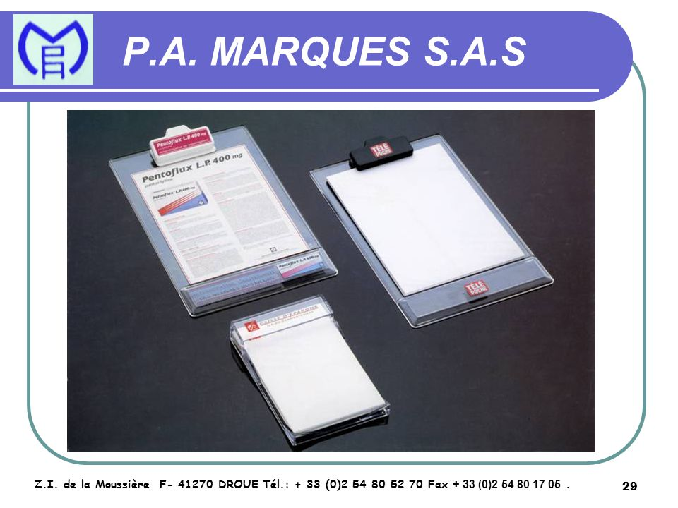 30 P.A.MARQUES S.A.S Z.I.