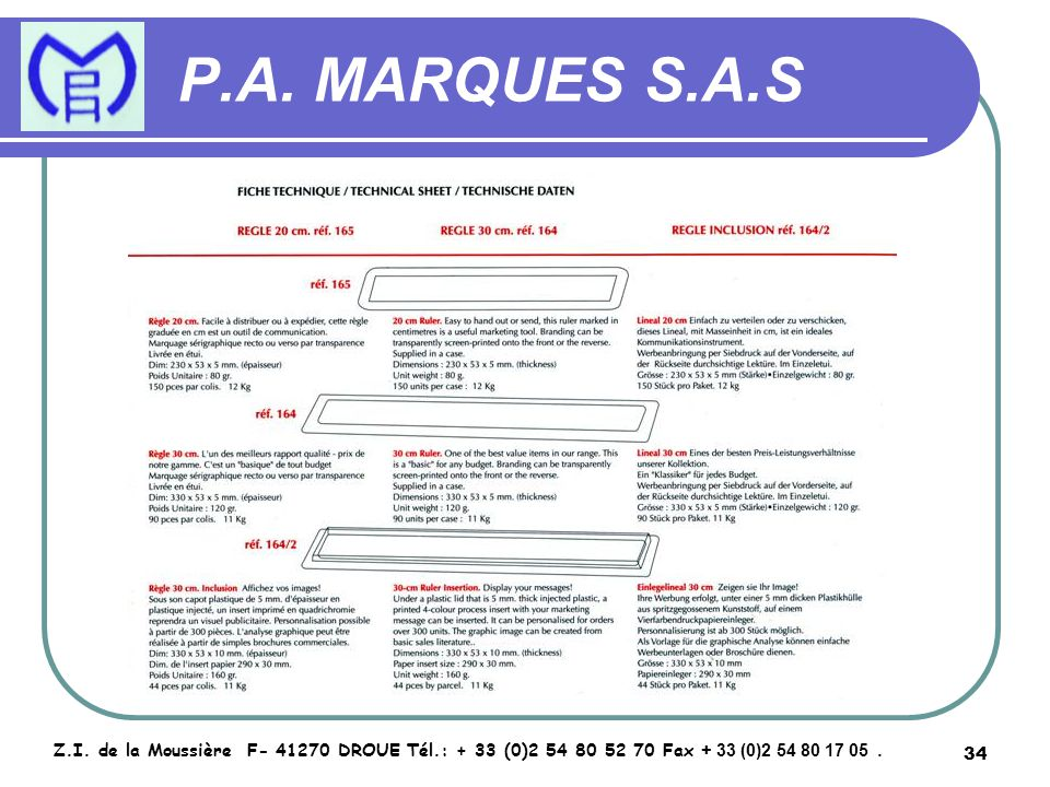 35 P.A.MARQUES S.A.S Z.I.