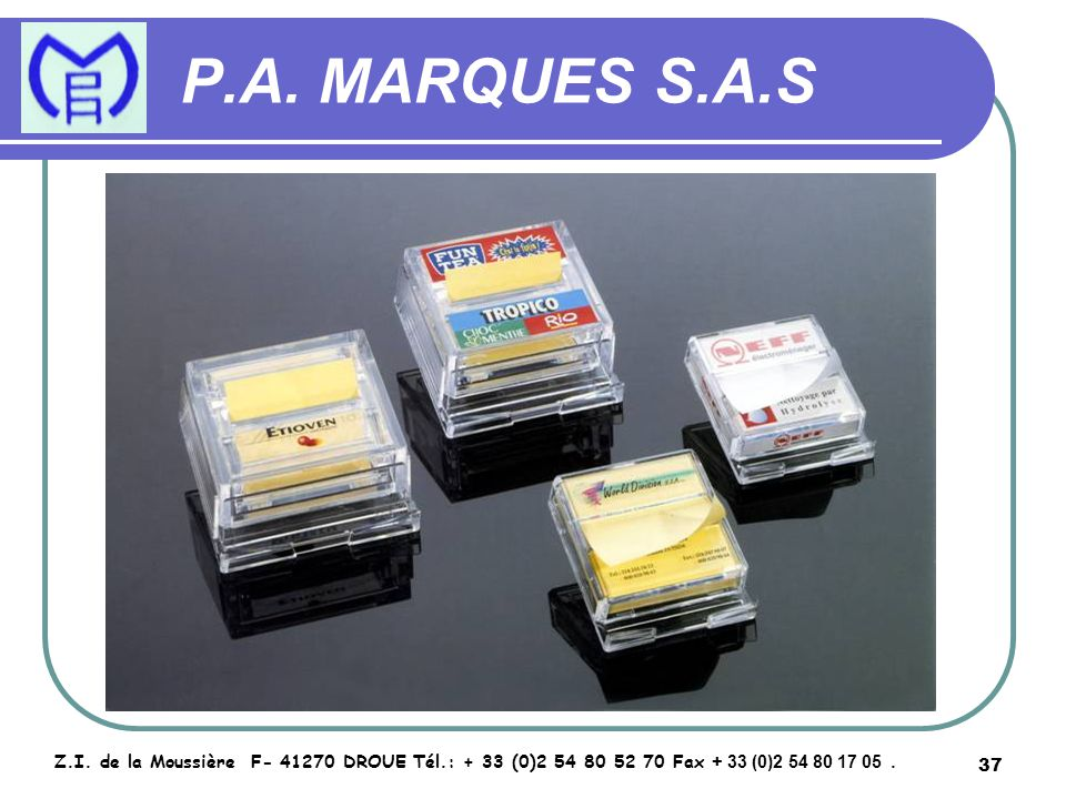 38 P.A.MARQUES S.A.S Z.I.