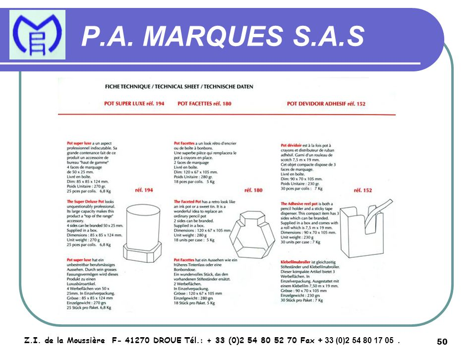 51 P.A.MARQUES S.A.S Z.I.