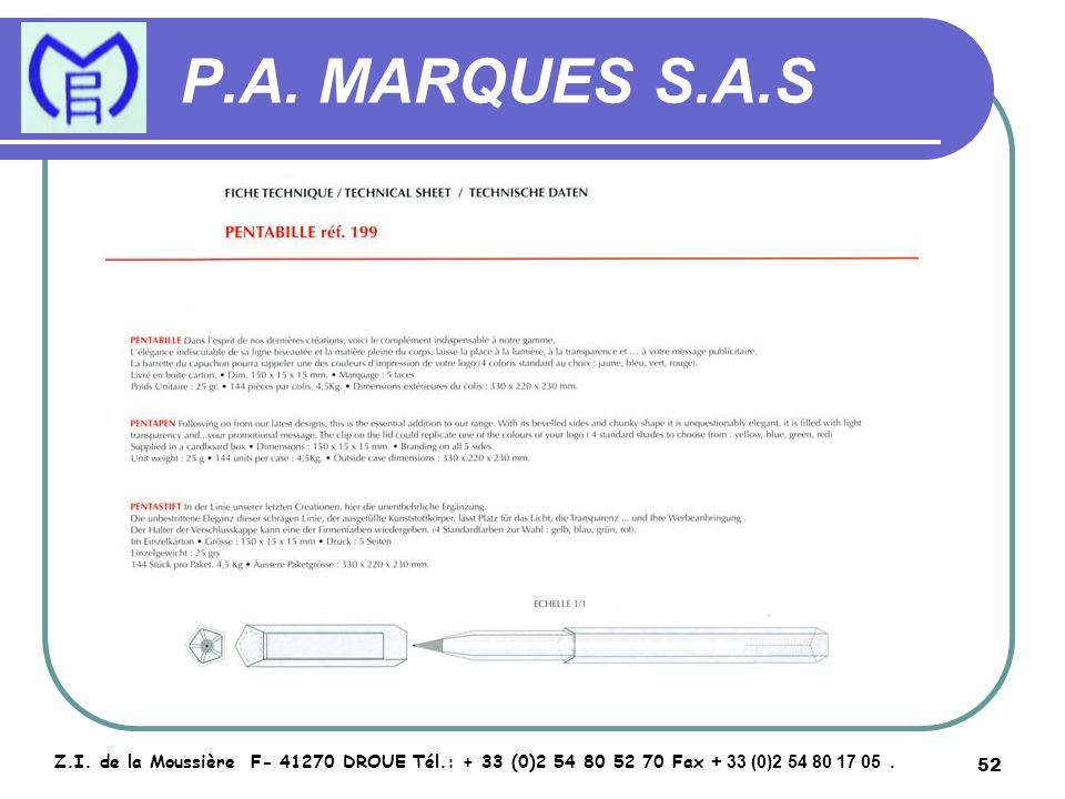 53 P.A.MARQUES S.A.S Z.I.
