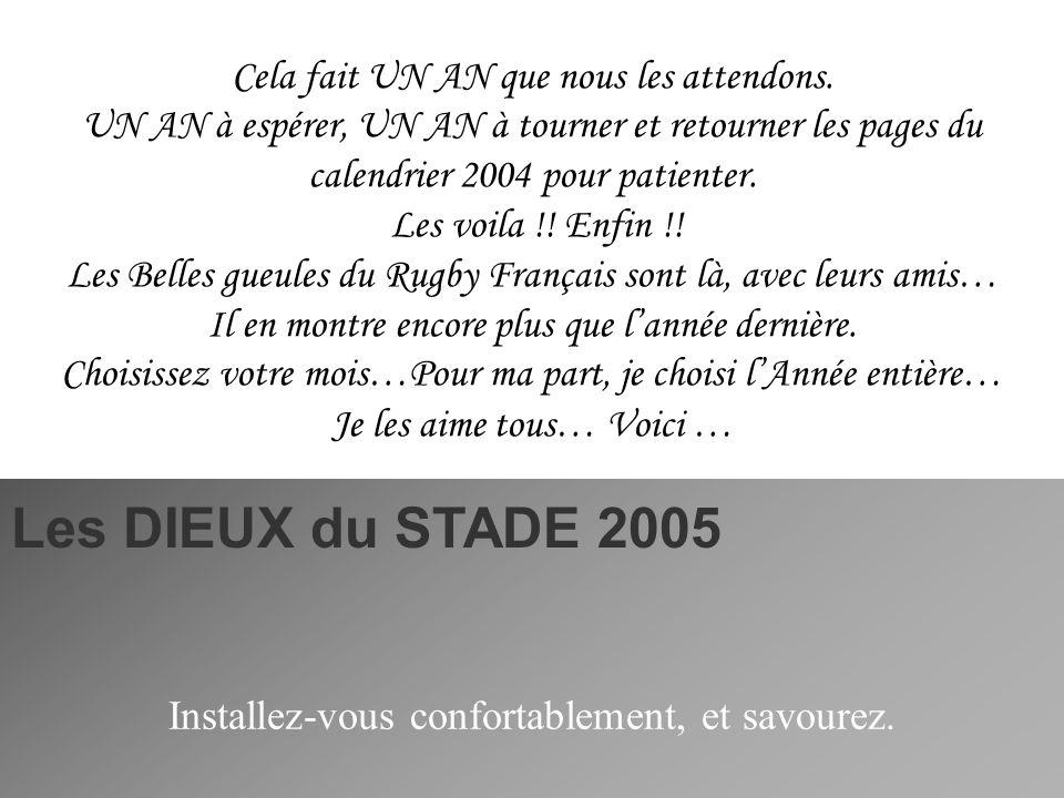 En COUVERTURE Du calendrier 2005 Olivier SARRAMEA Rugby Stade Français