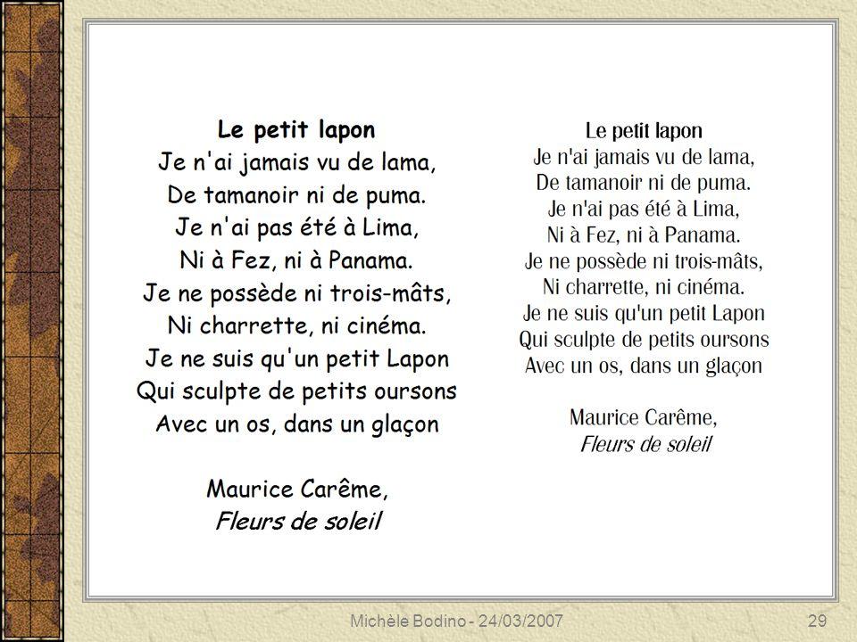 Michèle Bodino - 24/03/200730