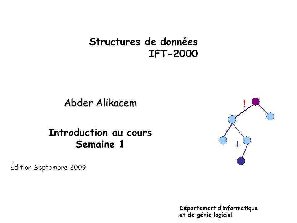 Plan • Introduction • Analyse et abstraction • Modélisation • Types de données abstraits • Spécifications • Implantation • Plan et modalités du cours