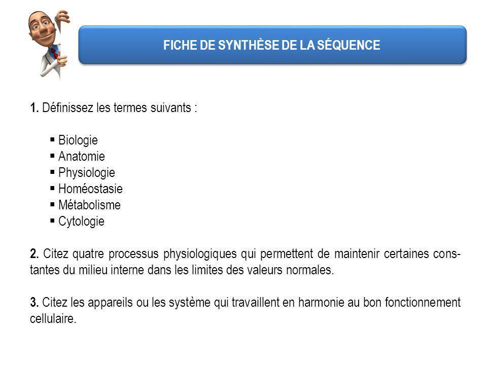 FICHE DE SYNTHÈSE DE LA SÉQUENCE 4.