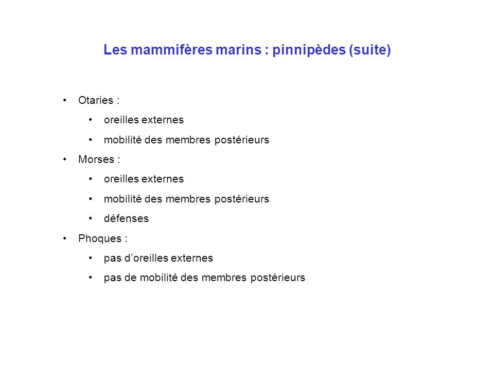 Les mammifères marins : documentation •Bibliographie •Les mammifères marins du monde – R.