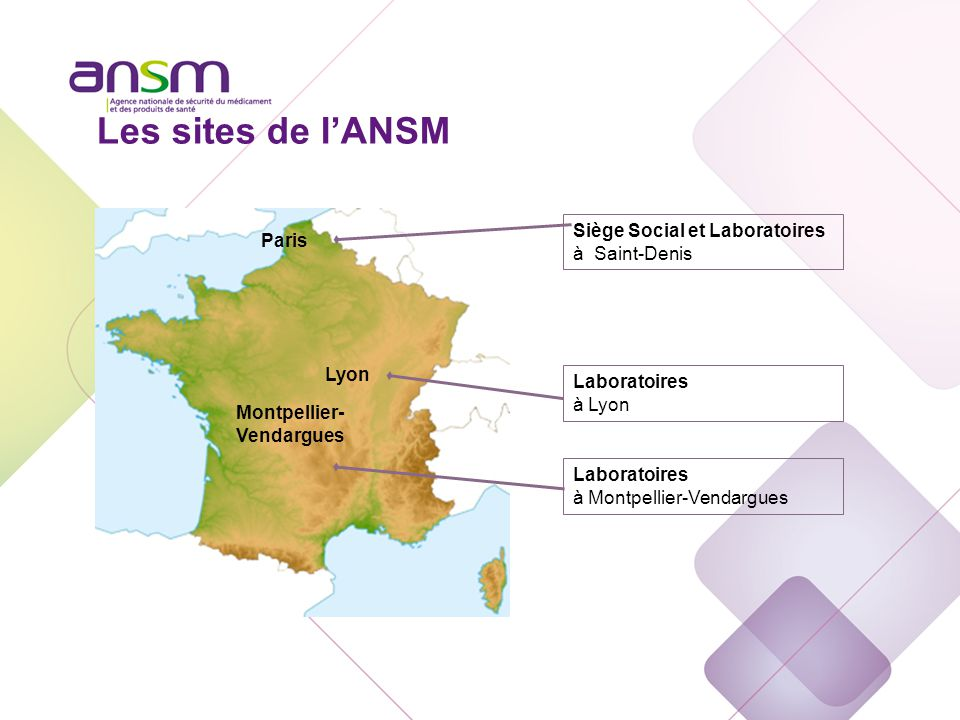 L'Agence nationale de sécurité du médicament et des produits de santé (ANSM) u L'ANSM s'est substituée le 1er mai 2012 à l'Afssaps.