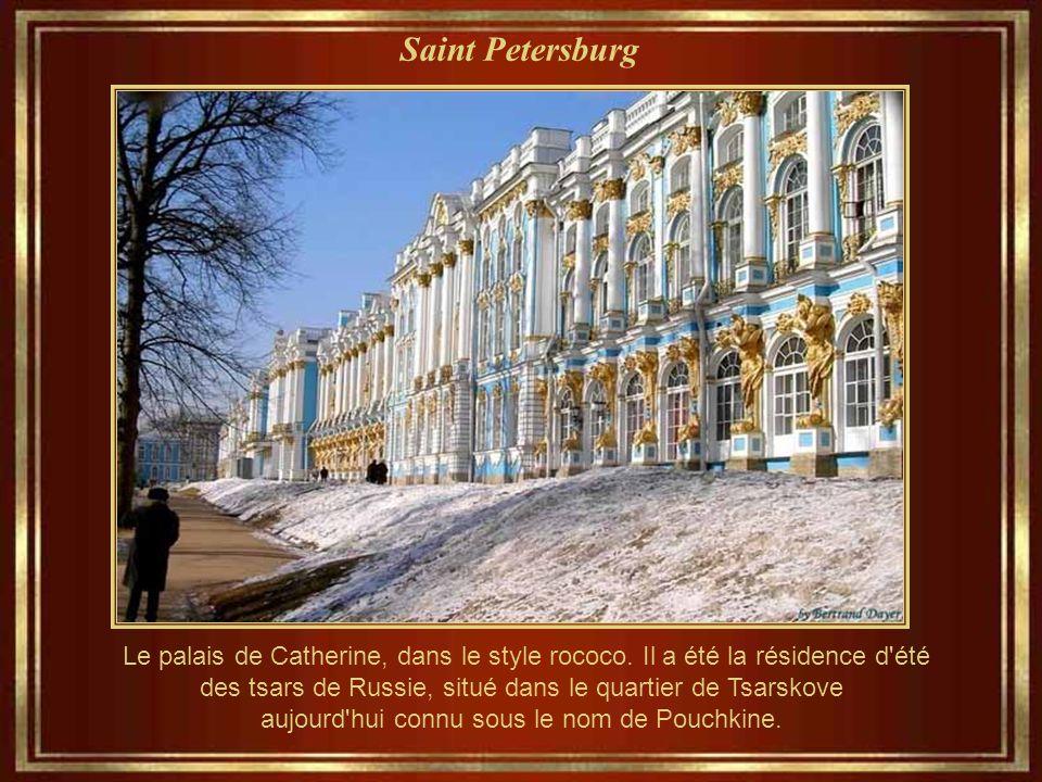 Saint Petersburg Le palais de Catherine, dans le style rococo.