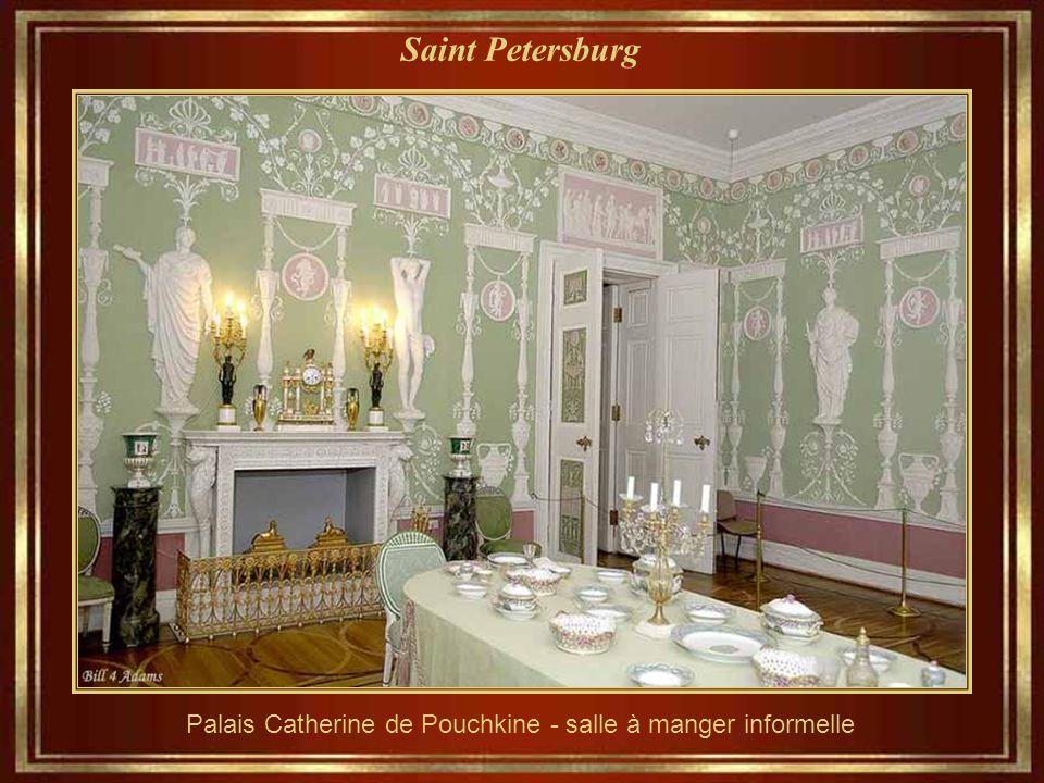 Saint Petersburg Palais Catherine de Pouchkine - salle à manger informelle