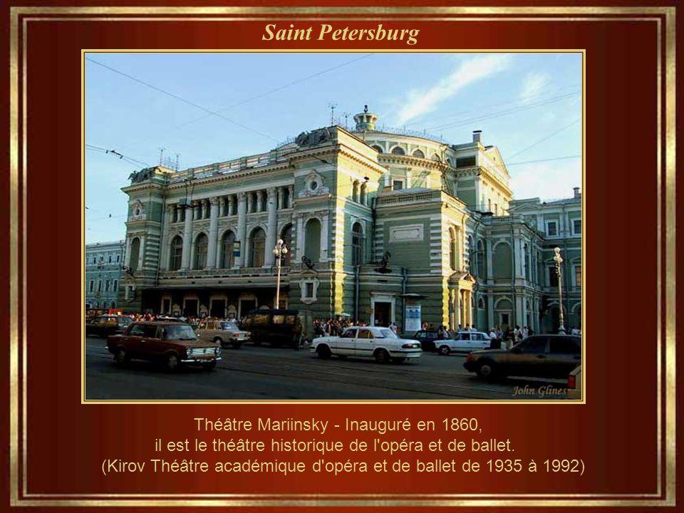 Saint Petersburg Théâtre Mariinsky - Inauguré en 1860, il est le théâtre historique de l opéra et de ballet.
