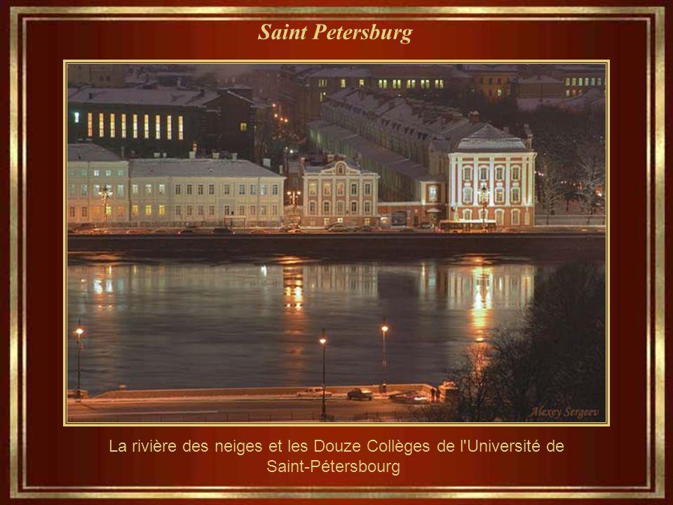 Saint Petersburg La rivière des neiges et les Douze Collèges de l Université de Saint-Pétersbourg