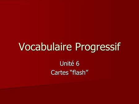 "Vocabulaire Progressif Unité 6 Cartes ""flash"". les points cardinaux cardinal points."