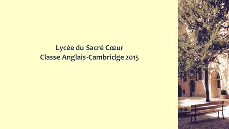 Classe Anglais-Cambridge 2015