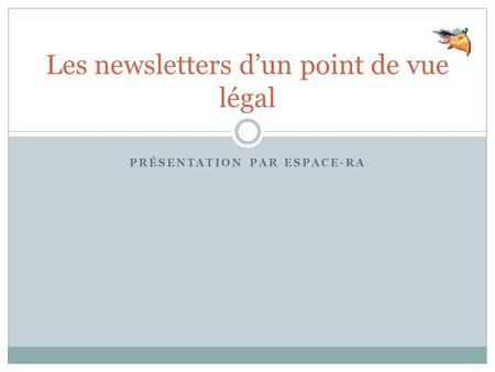 Les newsletters d'un point de vue légal