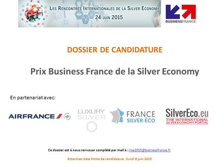 Prix Business France de la Silver Economy