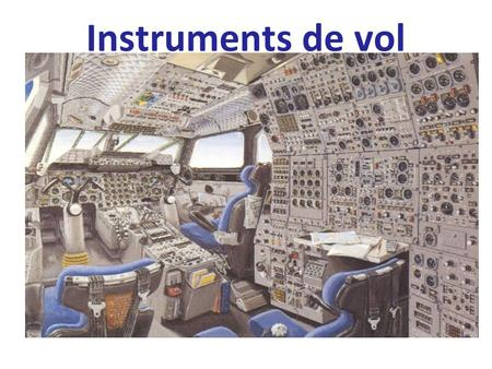 Instruments de vol. Instruments 1.Anémomètre / Badin 2.Horizon artificiel 3.Altimètre 4.Radio Nav igation / VOR 5.Indicateur de dépression 6.Indicateur.