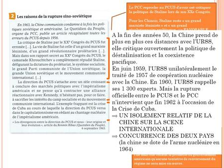 UN ISOLEMENT RELATIF DE LA CHINE SUR LA SCENE INTERNATIONALE