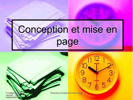Conception et mise en page SASU - Laurenan - SIRET 53462852400017 Photoshop Conception et mise en page.