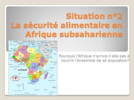 Conclusion sur la sécurité alimentaire en afrique subsaharienne