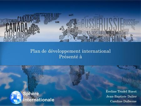 Plan de développement international