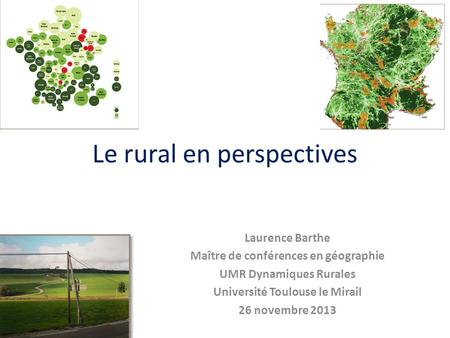 Le rural en perspectives