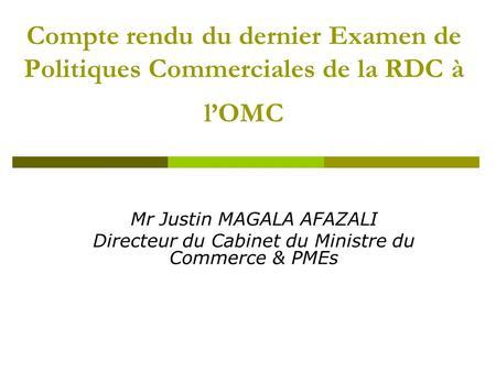 S minaire international sur les instruments de - Cabinet de recrutement commerce international ...