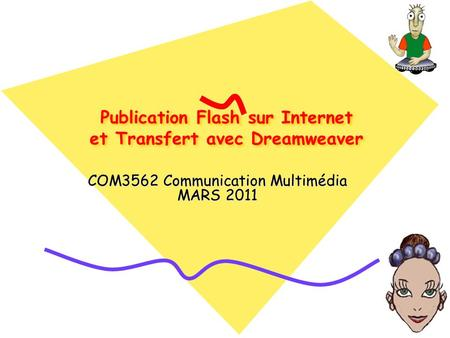 Publication Flash sur Internet et Transfert avec Dreamweaver COM3562 Communication Multimédia MARS 2011.
