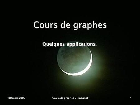 Quelques applications.